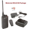 Weighing just 8.6 ounces, the RDU4100 Motorola is comfortable to wear all day. Plus, the user interface makes the radio simple and easy to use with little or no training.