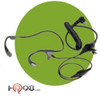 Motorola RMN5114 Lightweight Temple Transducer Headset has no blocking of the ear. Light weight and easy to hide. Easy to hear for those of hard of hearing.