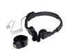 GLADIATOR SPM-1500 Medium Duty Throat Mic by Pryme has a tactical PTT and acoustic tube earpiece for stealth.
