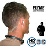 Pryme SPM 1500 series features dual transducers on an adjustable ABS band, with the acoustic tubing earpiece coming out of one side. It comes with a large (80mm) in-line push to talk tactical button.