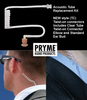 Pryme complete Acoustic Tube replacement kit for NEW style (TC) Twist-on connectors.  Includes Clear Tube, Twist-on Connector, Elbow and Standard Ear Bud.