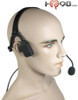 Since the dual speakers do not block the user's ears, the NBP-BH allows the user to hear both incoming radio calls and what is going on around them (situational awareness).