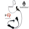 Signal Single-Wire Lapel Microphone by Rocket Science is a Quick disconnect acoustic tube earphone, lapel microphone with clothing clip, improved strain relief and a 1 year warranty.
