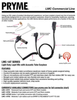 The Pryme LMC 1AT Series is a lapel microphone with a surveillance-style acoustic tube earphone. Th light duty unit has a microphone PTT housing with a clothing clip that is used to secure the mic to the user's lapel or shirt collar.