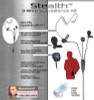 The Stealth is a lightweight 3-wire surveillance kit. Lapel microphone with clothing clip. Ring-finger PTT button with adjustable strap. Coiled audio tube for covert communications. Please choose a radio connector when ordering.