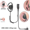 DEFENDER SPM-1200C Series - Medium Duty Lapel Microphone: Lapel Microphone with C-loop style earphone by PRYME RADIOS - Free Shipping