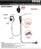 Comfortable Pryme G-Hook style earpiece can be used on either left or right ear. Has a large speaker that delivers clear, crisp audio.