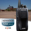 TK3400 offers plenty of privacy with a frequency scrambler. Hands-free (VOX) operation is supported when used with optional accessories. The Kenwood TK-3400-U4P is also water and dust resistant.  A Great Buy!