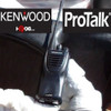 Kenwood TK-2400V16P two way radio offers 4 channels, 2 watts of power, and a lithium battery providing a 22 hour battery life and coverage for up to 220,000 square feet, 13 floors, or up to 6 miles.