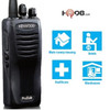TK2400 offers plenty of privacy with a frequency scrambler. Hands-free (VOX) operation is supported when used with optional accessories. The Kenwood TK-2400V16P is also water and dust resistant. A Great Buy!