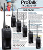 Kenwood TK-2402V16P Compact VHF FM 5-Watt Portable Radios are a great value when purchased in Six Packs.