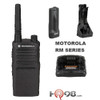 The Motorola RMM 2050 two way radios make it easy to get the work done. A powerful speaker ensures clear communication, even in noisy conditions. The RM Series provides coverage up to 250,000 square feet in an open warehouse.