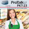 The ProTalk PKT-23 may be small, but it's enhanced Kenwood audio provides sound quality that is clear and easy to hear. A built-in 3.5mm jack connects a KHS-33 or KHS-34 headphone with in-line PTT headset so you can use it privately.