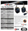OEM Dual Sport High Noise Headset - Dual Muff with Impact rated earshells. Noise Cancelling with adjustable flex boom mic.