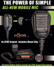 The Blackbox Mobile Radio Microphone had the PTT on the side and no DTMF keypad.