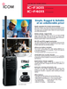 Simple operation for instant communication with only 3 buttons, one volume knob and one 16-position channel knob, the IC-F3011 series does not require special training to use. Buy Icom.