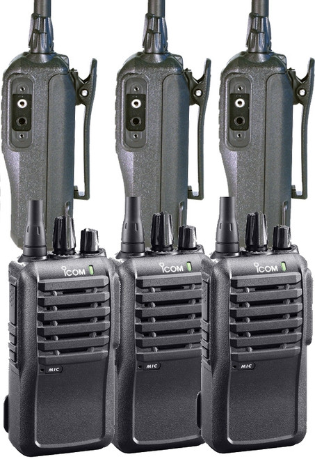 The iCOM IC-F3001 Six Pack of Professional Radios is one of the best values in business communications.  Call for additional discounts for volume purchases.