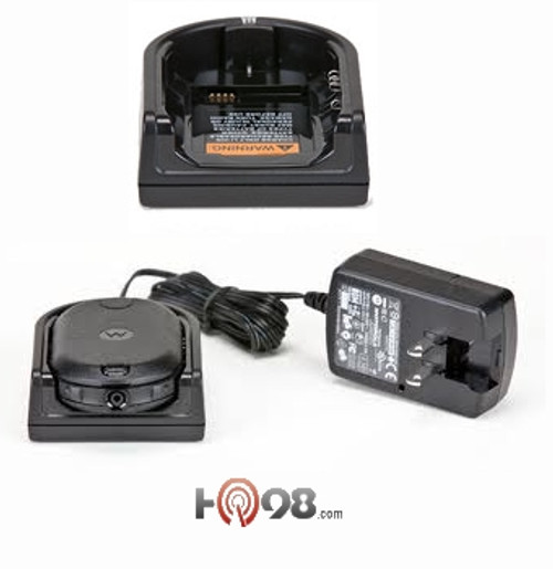 HKPN4008 Single Unit Charger and Adapter - HKPN4008 Single Unit Charger and Adapter for Motorola CLP Radios Replace your CLP single unit charger and ac adapter.