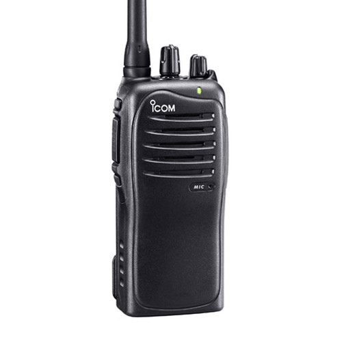The radio is tested to MIL-STD 810 specifications and to the IP54 rating for dust protection and water resistance. The iCom IC-F3011 series is built to take harsh use and keep working.