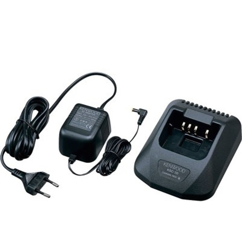 Kenwood USA KSC-30 will take 11 hours to fully charge a battery no matter how drained the battery is. When you put the battery in the charge the indicator light will turn red. When the battery is fully charged the light will turn off.