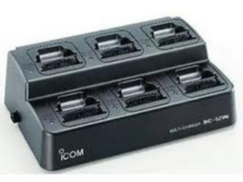The BC-121N is a 6 slot rapid charger. It will accomodate up to six radios and rapid charge all units in 1.5 hrs. Price includes the main charging unit, power supply and six matching adapter cups.