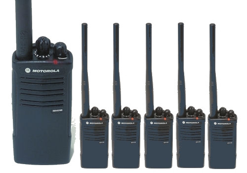 The Motorola RDV5100 VHFsix pack of two way radios has 10 channels and 5 watts of power. Perfect for the construction site, ranch or most business needs.