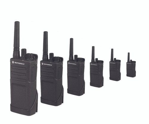 Six Pack of Motorola RMU2040 On-Site Two-Way Business Radios 2-4 channels, 2 watt, UHF radio that operates on 89 UHF business exclusive frequencies. Features customized channel announcement.