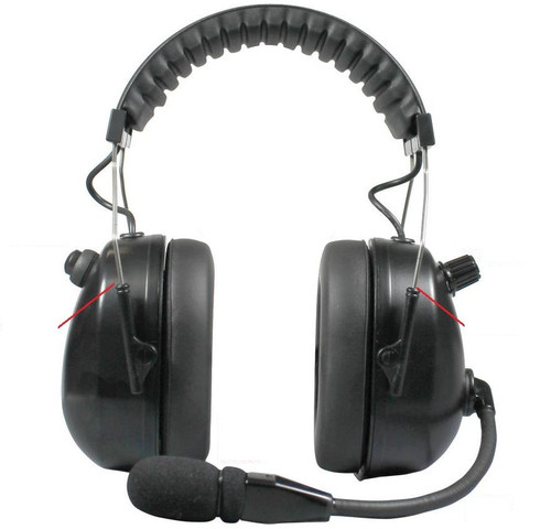 The HBB-EM by Pryme uses an electret mic which is the most universal version and should work on all radios. (over-the-head) Dual Muff Headset. Flat Black finish. NOW WITH CERTIFIED NRR 24dB
