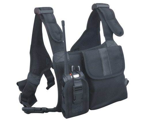 The Hytera Universal Nylon Chest Pack is fully adjustable and fits most large size 2-way radios.