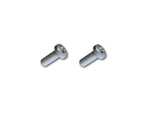 2 Silver Metric screws used to attach the BC12 belt clip to the TC-518 OBR, and more, radios.