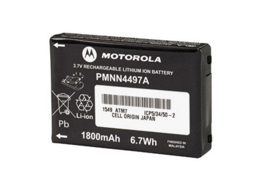 The PMNN4497 battery from Motorola charges in the same units as the radios, and delivers up to 18 hours of battery life in a single session.