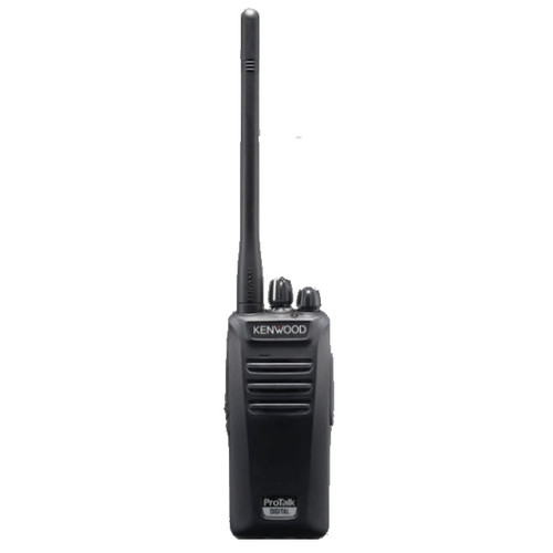 Kenwood's NX-240V16P2/340U16P2 16 channel 2 Watt portable radios operate in either analog FM or NXDN® digital modes.