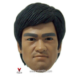 Bruce Lee Head Sculpt w/ Eye Rotation Type 2