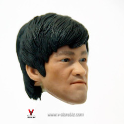 Bruce Lee Head Sculpt w/ Eye Rotation Type 3