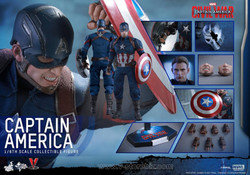 Hot Toys MMS350 Captain America: Civil War Captain America