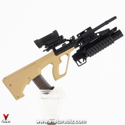 Armoury Steyr AUG w/ M203 Grenade Launcher & Elcan Sight (Sand)