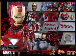 Hot Toys MMS378D17 The Avengers Iron Man Mk VI Diecast