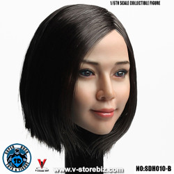 SuperDuck SDH010B Asian Female Headsculpt (Short Black Hair)
