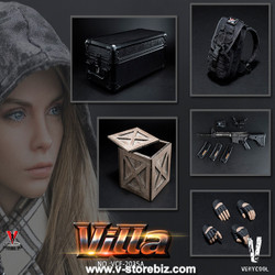 Very Cool VCF-2035A Black Python Stripe Camouflage Villa