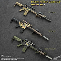 E&S 06016 Private Military Contractor Weapon Set B (Set of 3)