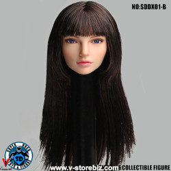 SuperDuck SDDX01B Female Headsculpt (Dark Brown)