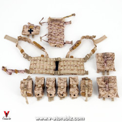 E&S 26021 SMU Tier 1 Security Team AOR1 MOLLE Chest Rig & Pouches