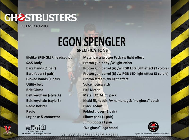 Soldier Story GBI002 Ghostbusters Egon Spengler