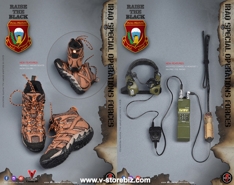"""Soldier Story SS107 Iraq Special Operations Forces """"ISOF"""" SAW Gunner"""