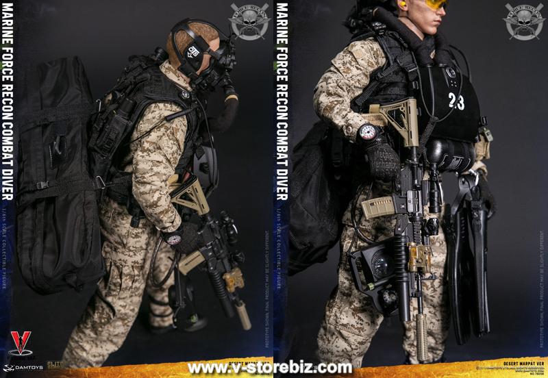 DAM 78056 Marine Force Recon Combat Diver (Desert MARPAT Version)