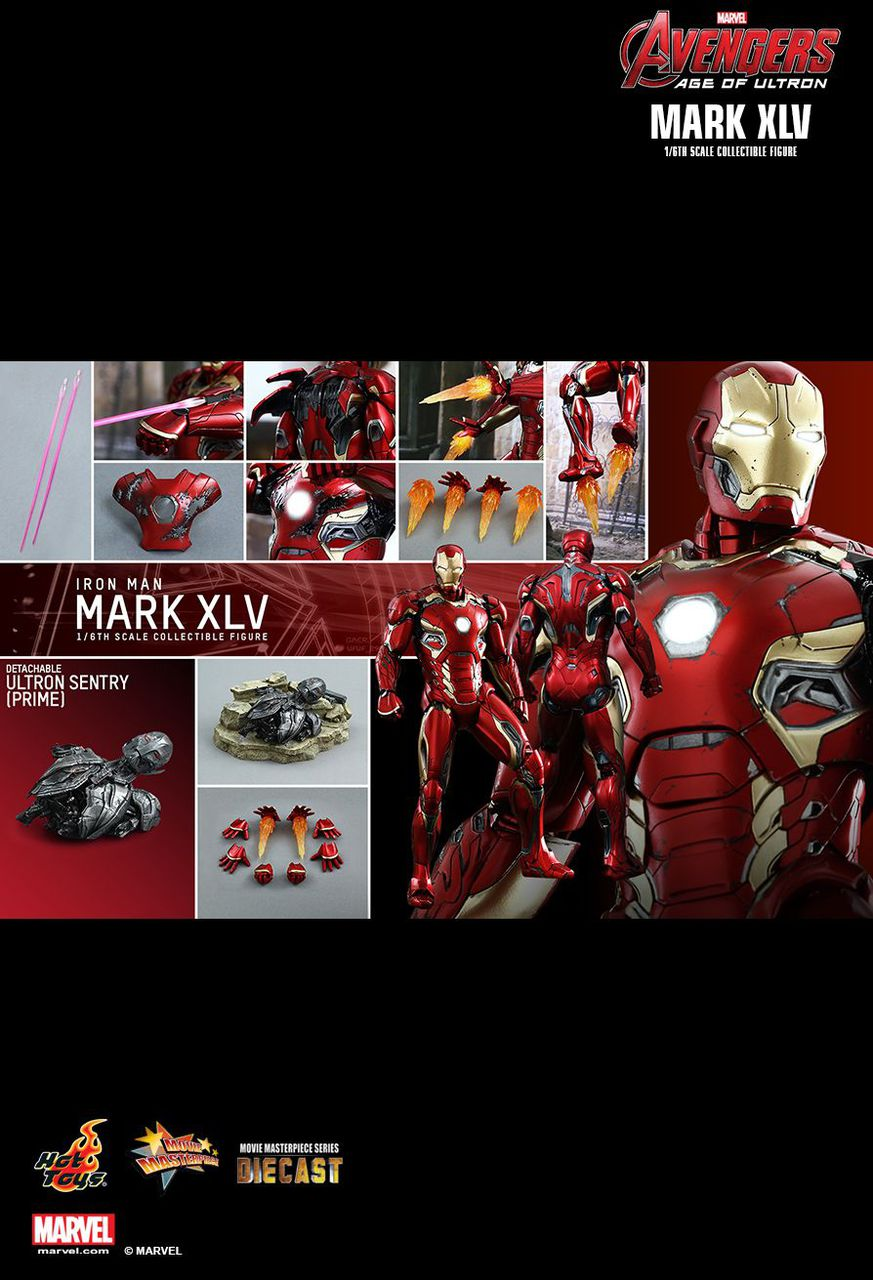 Hot Toys MMS300D11 AGE OF ULTRON IRON MAN MARK XLV