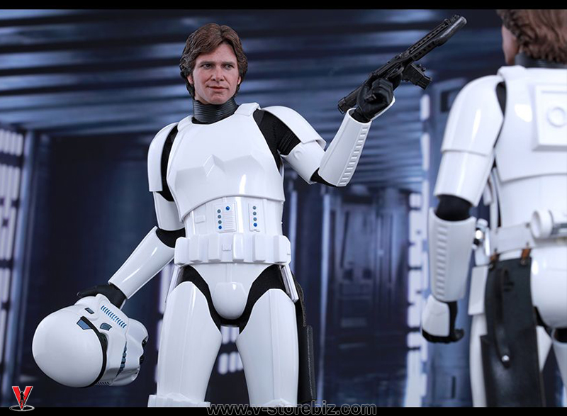Hot Toys MMS418 Star Wars Han Solo Stormtrooper Disguise Exclusive
