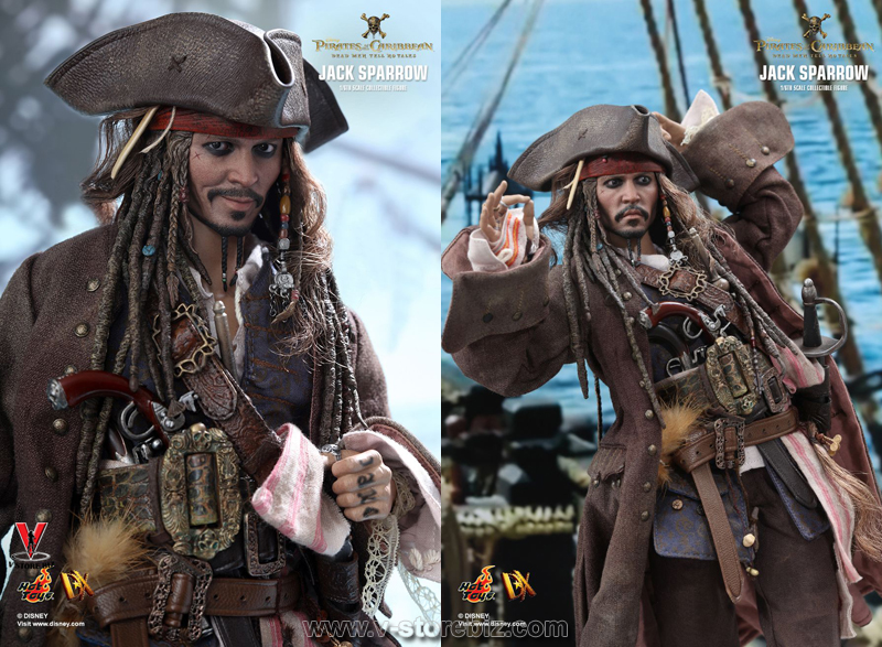 Hot Toys DX15 Pirates of the Caribbean : Dead Men Tell No Tales Jack Sparrow