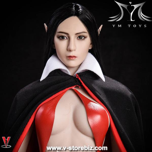 YMToys YMT09B Black-haired Elf Headsculpt
