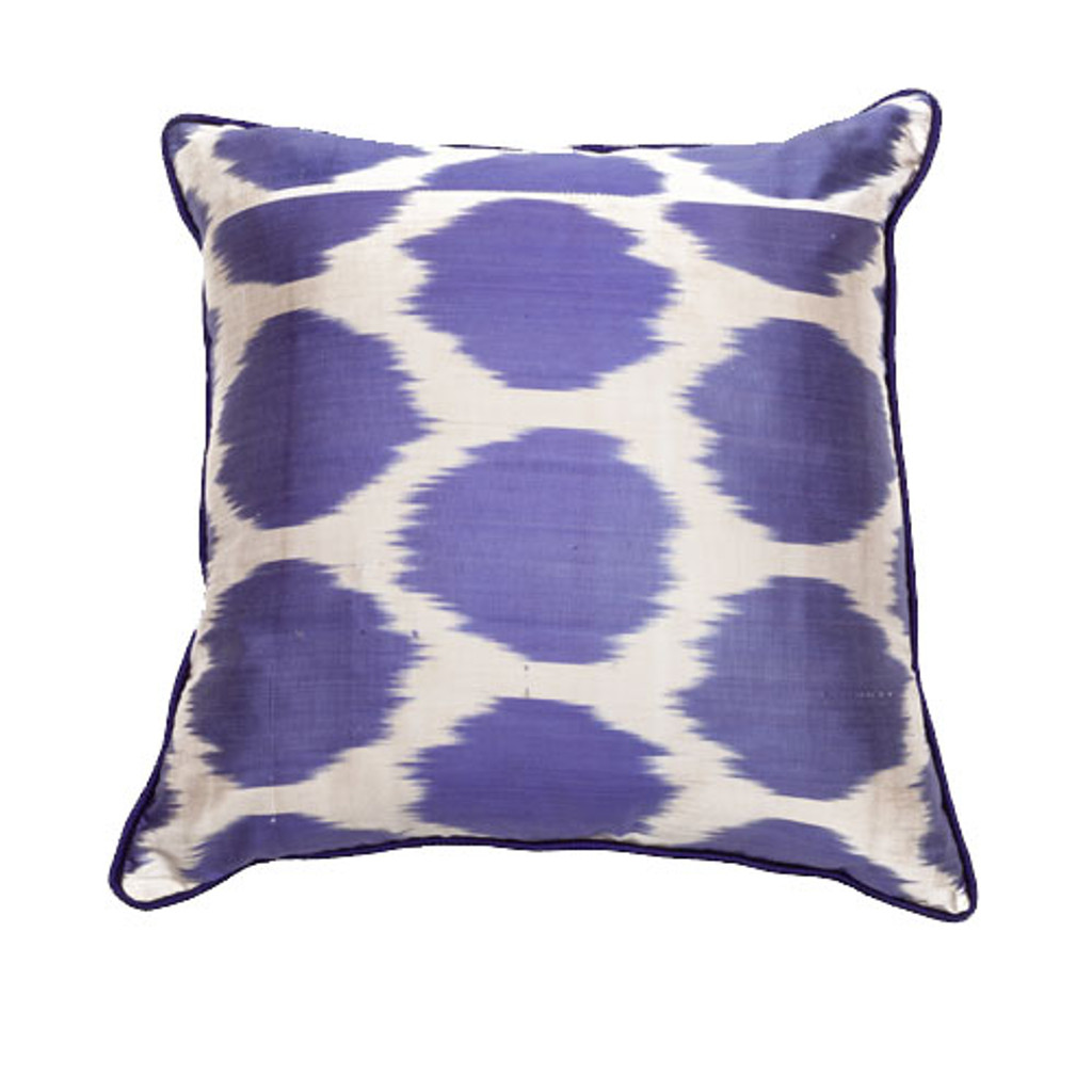 Ikat Pillow Lavender Dots